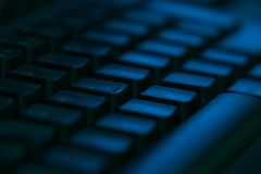 Computer keyboard close-up with empty space stock photography