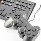Keyboard computer and game controller Royalty Free Stock Photo