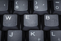 Keyboard computer letter word web techniology Stock Photography