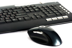 Keyboard and computer mouse Royalty Free Stock Photo