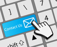 Keyboard Contact Us button with mouse hand cursor Stock Photo