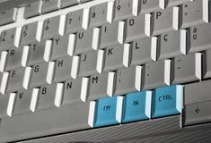 Keyboard control Stock Photo