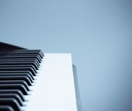 Keyboard cool tone Stock Photography