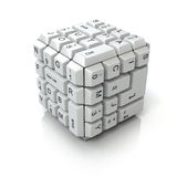 Keyboard cube Stock Image