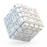 Keyboard cube Royalty Free Stock Images