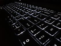 KEYBOARD IN THE DARK royalty free stock photo