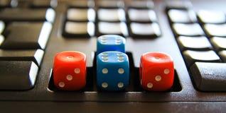 Keyboard dice Stock Photos