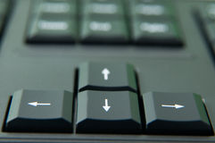 Keyboard directions Royalty Free Stock Photography