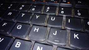keyboard that is dirty with dust stock images