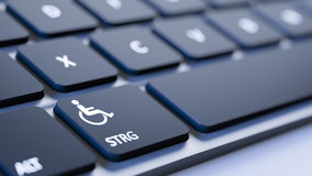 Keyboard disabled sign Royalty Free Stock Photography