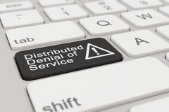 Keyboard - Distributed Denial of Service - black Royalty Free Stock Photos