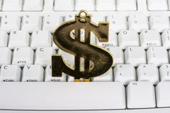 Keyboard with a dollar sign Stock Images