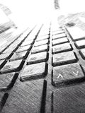 Keyboard drawing Royalty Free Stock Photography