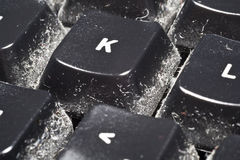 Keyboard Dust Royalty Free Stock Image