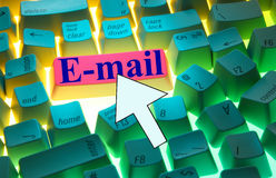 Keyboard-E-mail Stock Photos