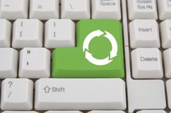Keyboard with ecology key Stock Photography