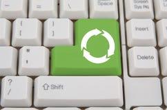 Keyboard with ecology key Stock Photography