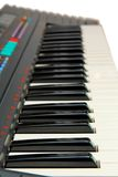 Keyboard of electric piano isolated Royalty Free Stock Images