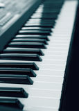 Keyboard electronic musical synthesizer Stock Images
