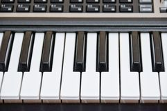 The keyboard of the electronic piano. Synthesizer Royalty Free Stock Photography