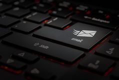 Keyboard with email icon royalty free stock images