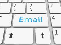Keyboard email  key Royalty Free Stock Photography