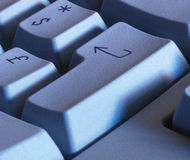 Keyboard enter key Royalty Free Stock Photo