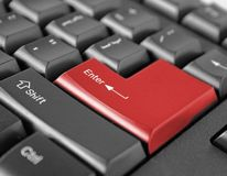 Keyboard enter key Royalty Free Stock Photos