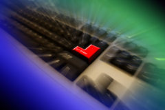 Keyboard Enter key. Let's enter to IT world Stock Images