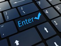 Keyboard enter key Royalty Free Stock Image