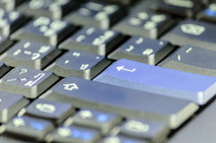 Keyboard enter key Royalty Free Stock Images