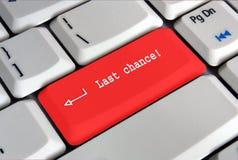 Keyboard enter key saying last chance Royalty Free Stock Images
