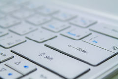 Keyboard. The External Thin Gray  Keyboard of ultrabook Royalty Free Stock Photo