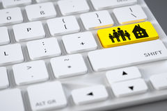 Keyboard family home Stock Image