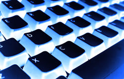 Keyboard filter blue. Of photo perspective Royalty Free Stock Photos