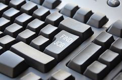 Keyboard Find Job Stock Image