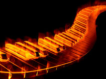 Keyboard on fire Stock Photography