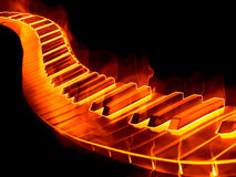 Keyboard on fire Stock Image