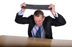 Keyboard frustration Stock Photo