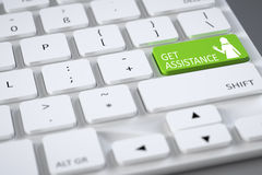 Keyboard get assistance Stock Image