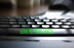 Keyboard - Give me more space. Written on the space button Royalty Free Stock Images