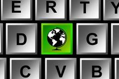 Keyboard globe Stock Images