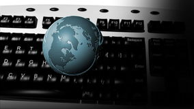 KEYBOARD AND GLOBE Stock Photos