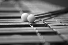 Keyboard glockenspiel closeup Royalty Free Stock Photography