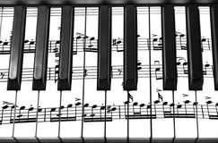 Keyboard of a grand piano Stock Photo