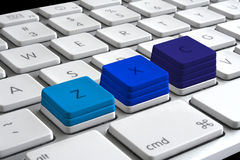 Keyboard graph Stock Images