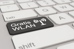 Keyboard - Gratis WLAN - black Royalty Free Stock Photography