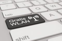 Keyboard - Gratis WLAN - black Royalty Free Stock Photography
