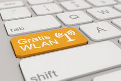 Keyboard - Gratis WLAN - orange Stock Photo
