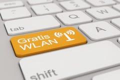 Keyboard - Gratis WLAN - orange Stock Photo
